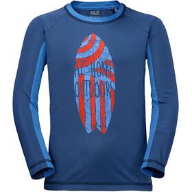 Jack Wolfskin Shoreline - T-shirt manches longues Enfant - bleu